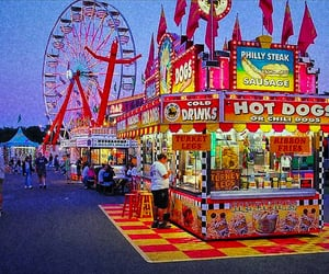 aesthetic, food, and carnival image