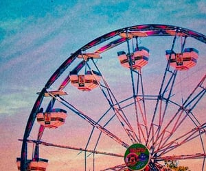 aesthetic, ferris wheel, and carnival image