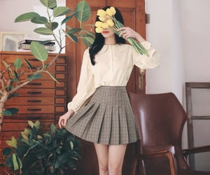 asian fashion, korean fashion, and milkcocoa image