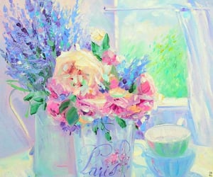 flowers, Oil Painting, and painting image
