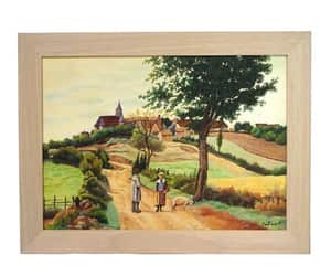 french wall decor, french country art, and french scenic art image