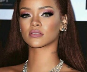 makeup, rihanna, and riri image