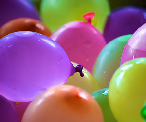 balloons, water, and colorful image