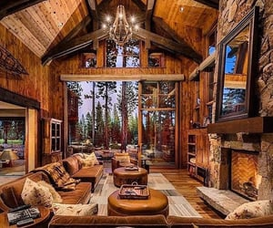 cabin, inspiration, and house goals image