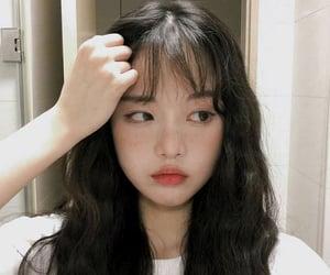 bangs, korean, and soft image