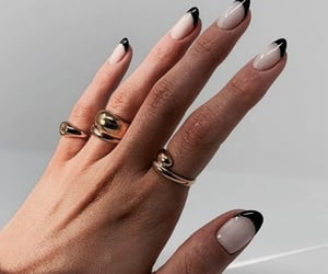 nails, golden, and jewelry image