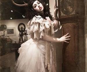 bridal, bustle, and gothic image
