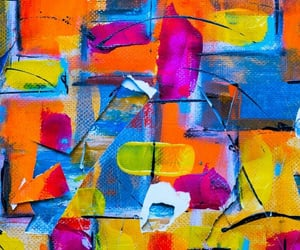 abstraction, art, and canvas image