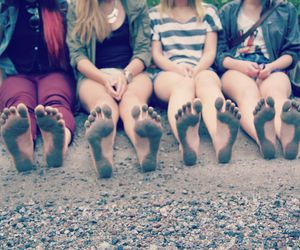 barefoot, dip dye, and dirty image