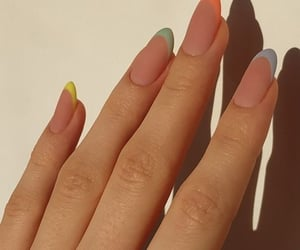 nails, girl, and beauty image