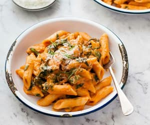 delicious, penne pasta, and savoury image
