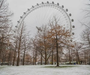 city, london, and snow image