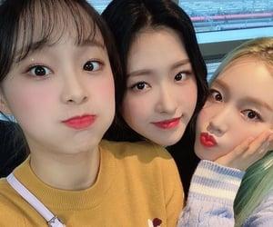 olivia, chuu, and jiwoo image