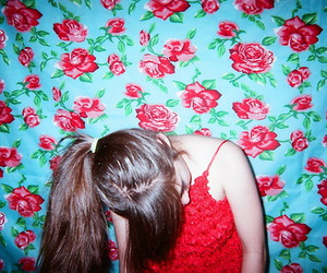 girl and red image