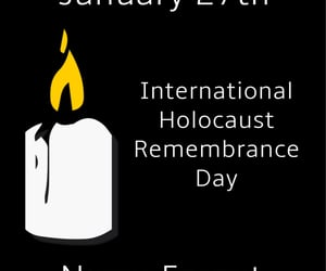holocaust, we remember, and holocaust memorial day image