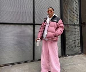 street style, streetwear, and the north face image