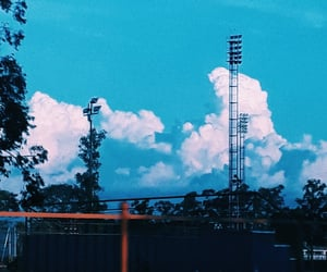 blue sky, tumblr, and clouds image