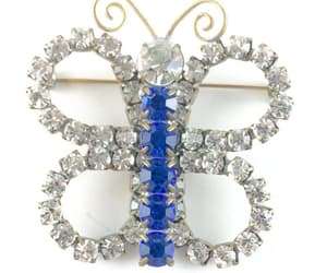 etsy, estate jewelry, and crystal brooch image
