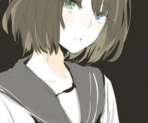 anime, anime girl, and blue eye image