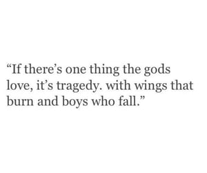 icarus, quote, and love image