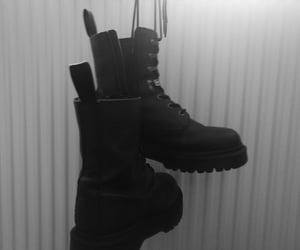 aesthetic, metal, and combat boots image