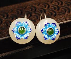 hoop earring, etsy, and jade jewelry image