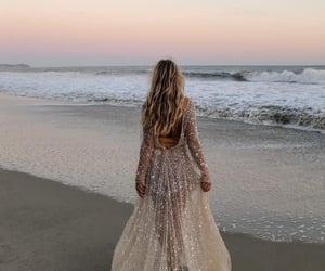 dress, beach, and fashion image