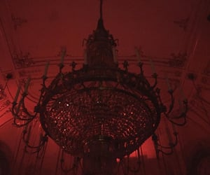 aesthetic, chandelier, and grunge image