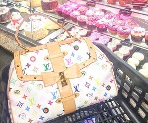 bag, Louis Vuitton, and cupcakes image