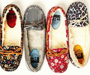 shoes, moccasins, and flowers image