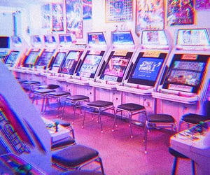 arcade, light, and video games image