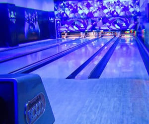 blue, bowling, and neon image