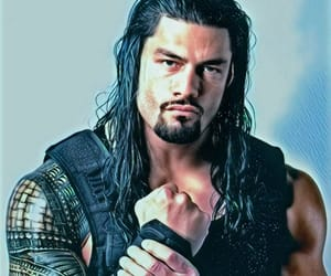 painting, wrestling, and roman reigns image
