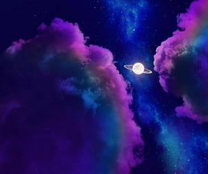 aesthetic, galaxy, and moon image