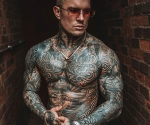 hot guys, sexy, and tatted image