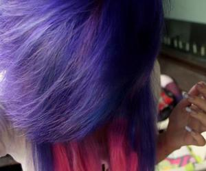girl, pink, and purple hair image