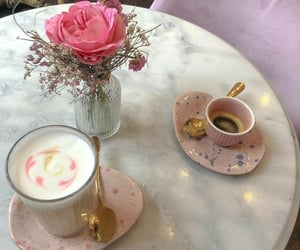 aesthetic, floral, and beverages image