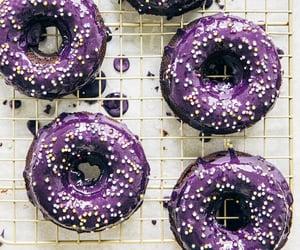 baked ube mochi donuts