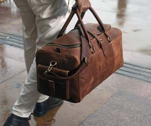 leather bag, luggage bags, and duffle bags image