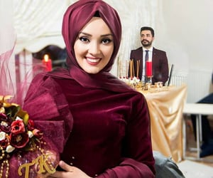 bride, engagement, and muslima image