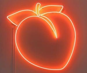 aesthetic, light, and orange image