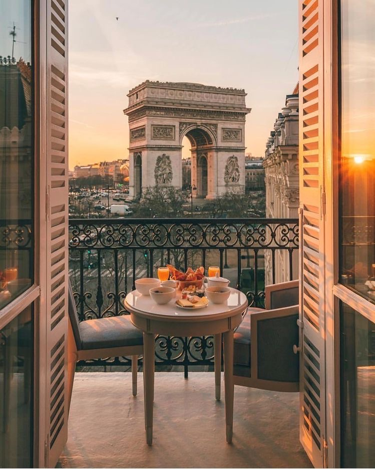 croissant, view, and meal image