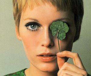 Mia Farrow, green, and blonde image