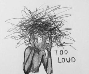 art, sad, and depression image