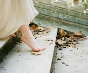 barefoot, dreamy, and dress image
