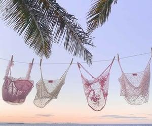 beach, fashion, and nature image