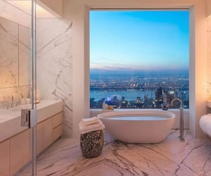 interior, house, and bathroom image
