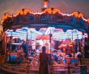 carousel, circus, and french image