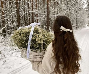 flower, gift, and winter image