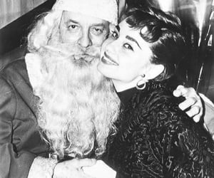 merry christmas, old hollywood, and audrey hepburn image